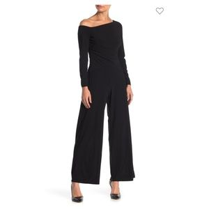 Taylor Draped Off-the-Shoulder Jersey Jumpsuit NWT
